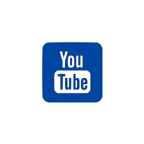 Youtube Button blau © youtube